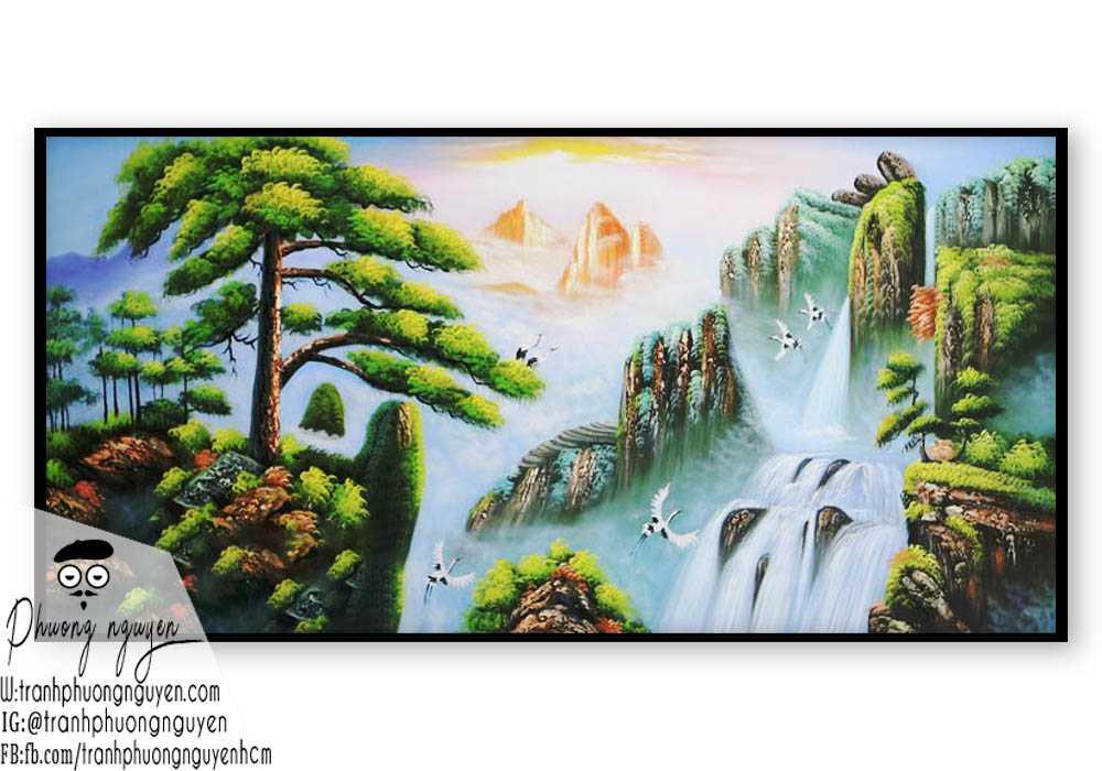 Tranh vẽ rừng núi đẹp nhất- PN1129