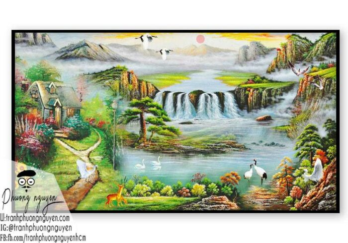 Tranh phong cảnh sơn thủy hữu tình - PN1087