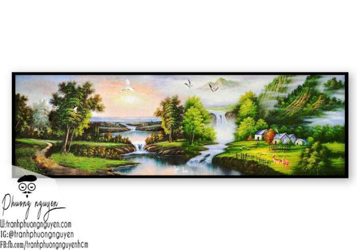 Tranh phong cảnh sơn thủy hữu tình - PN1088