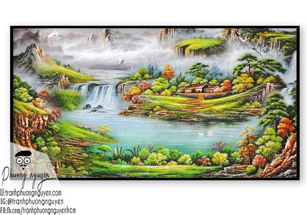 Tranh phong cảnh sơn thủy hữu tình - PN1089