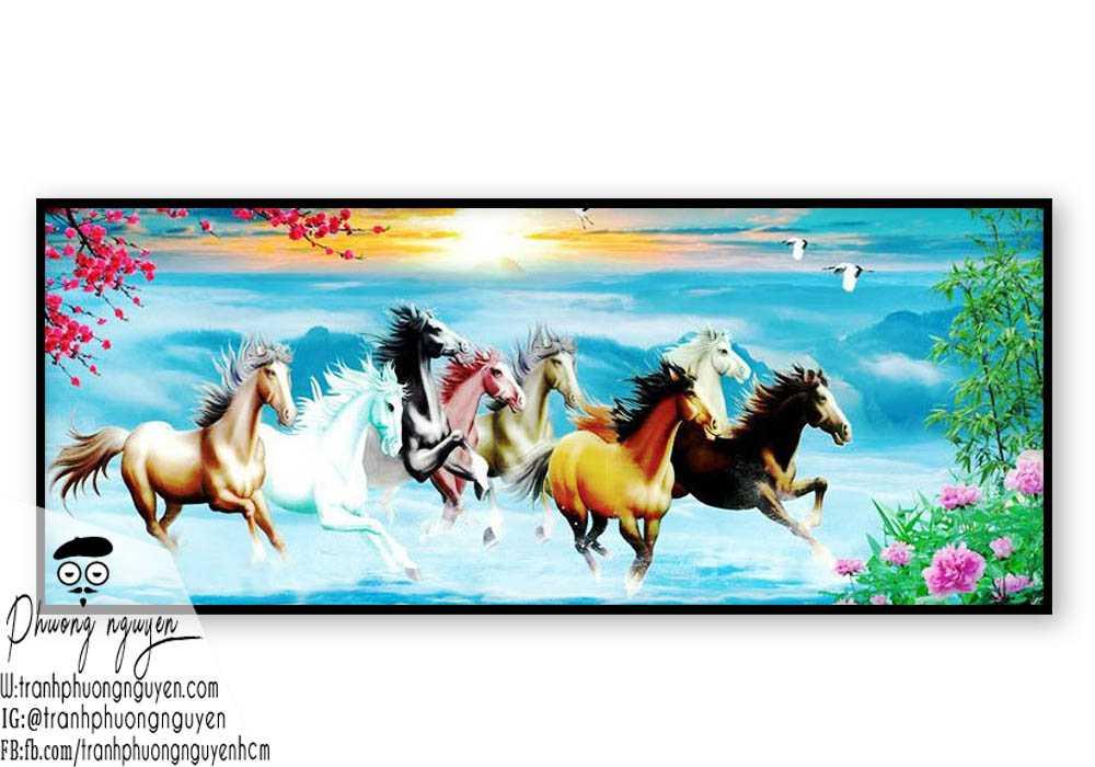 Tranh vẽ ngựa phong thủy đẹp - PN1146
