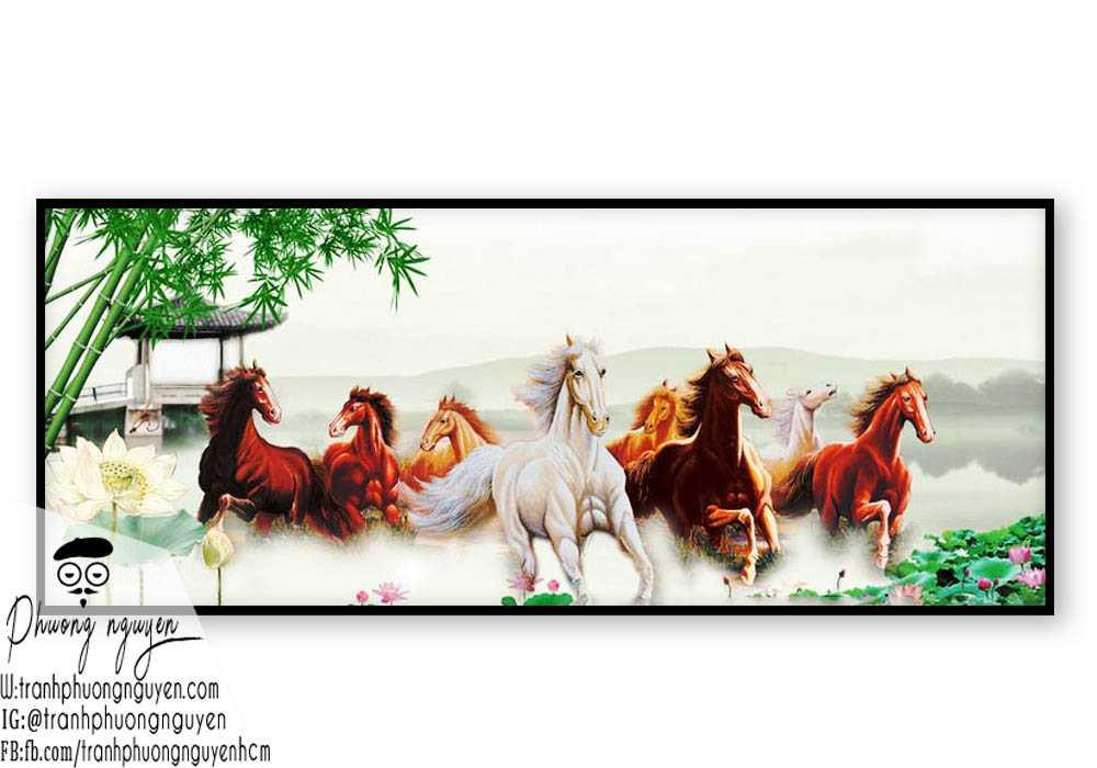 Tranh vẽ ngựa phong thủy đẹp - PN1147