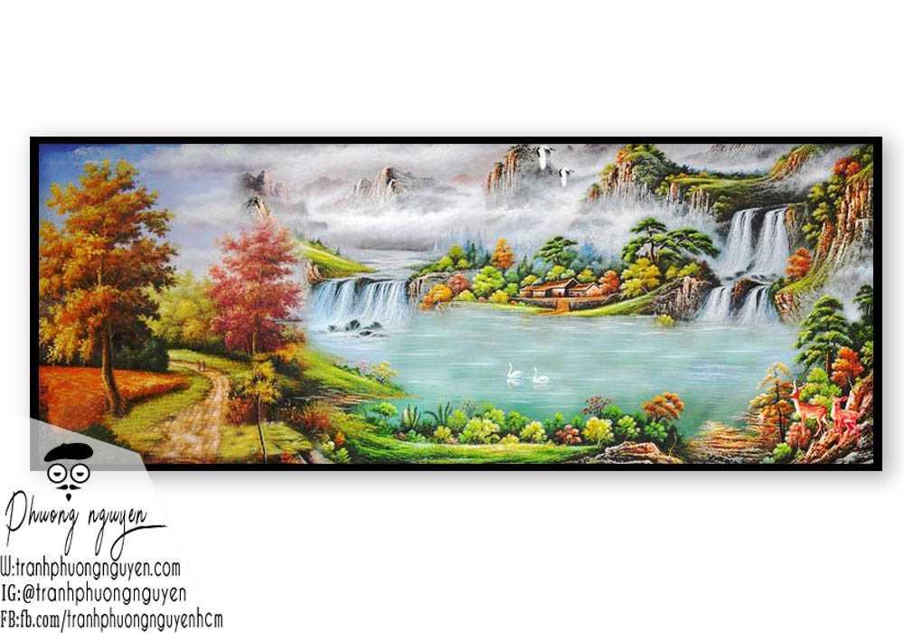 Tranh sơn thủy đẹp giá rẻ- PN1090
