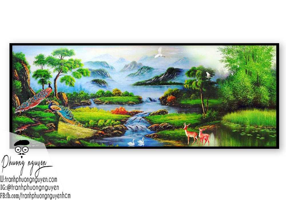 Tranh sơn thủy đẹp giá rẻ- PN1091