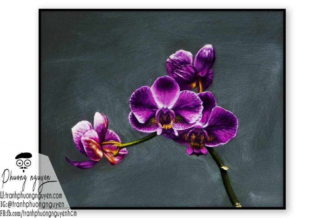 Tranh hoa lan  - PN1409