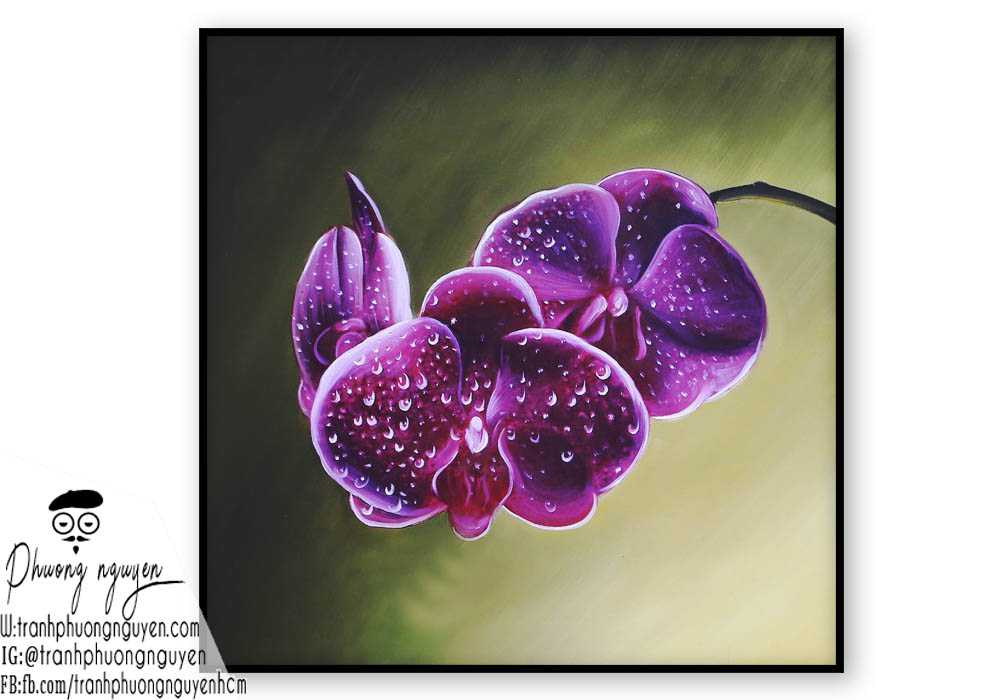 Tranh hoa lan  - PN1410