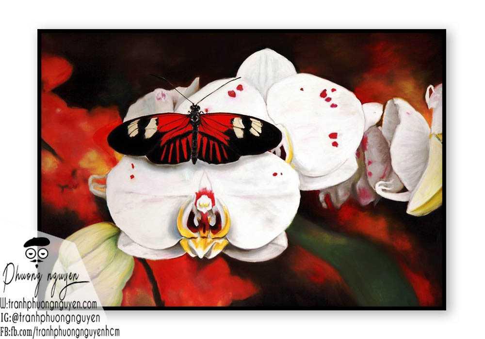 Tranh hoa lan - PN1417