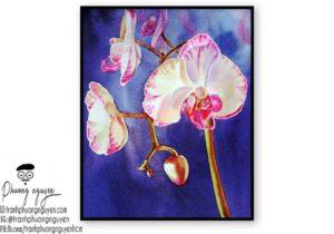 Tranh hoa lan  - PN1420