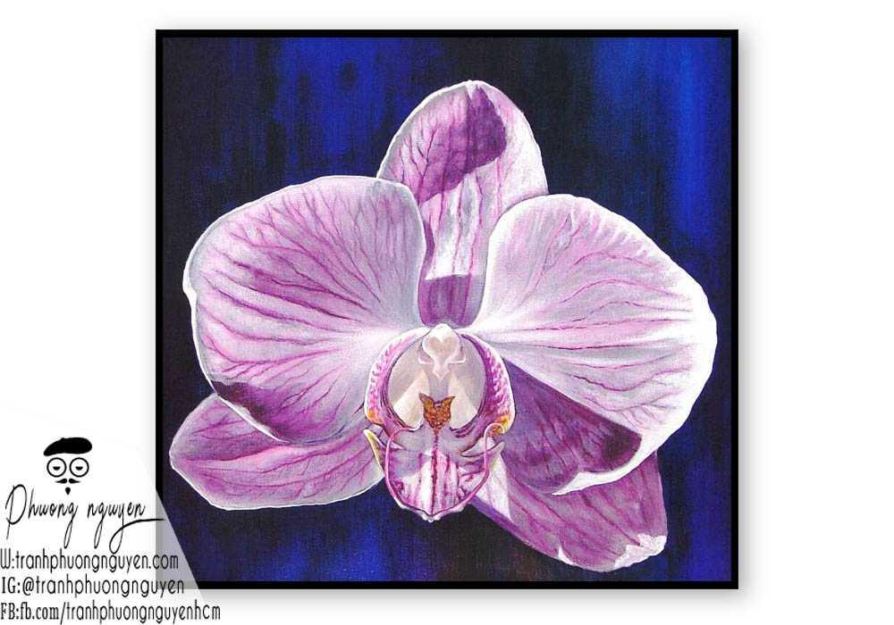 Tranh hoa lan - PN1424