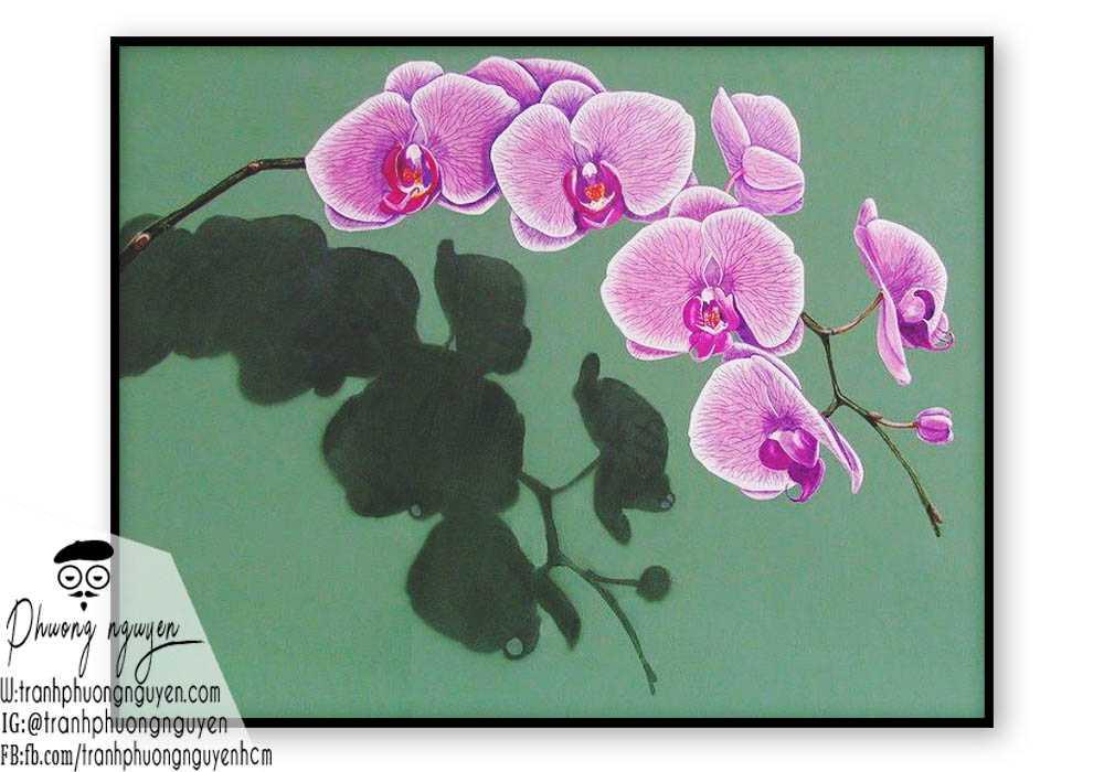 Tranh hoa lan  - PN1426