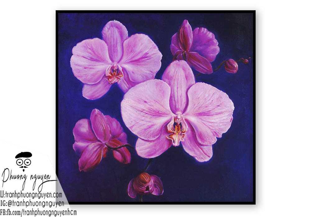 Tranh hoa lan - PN1427