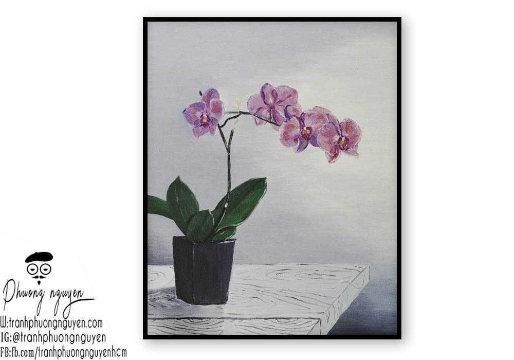Tranh hoa lan  - PN1430