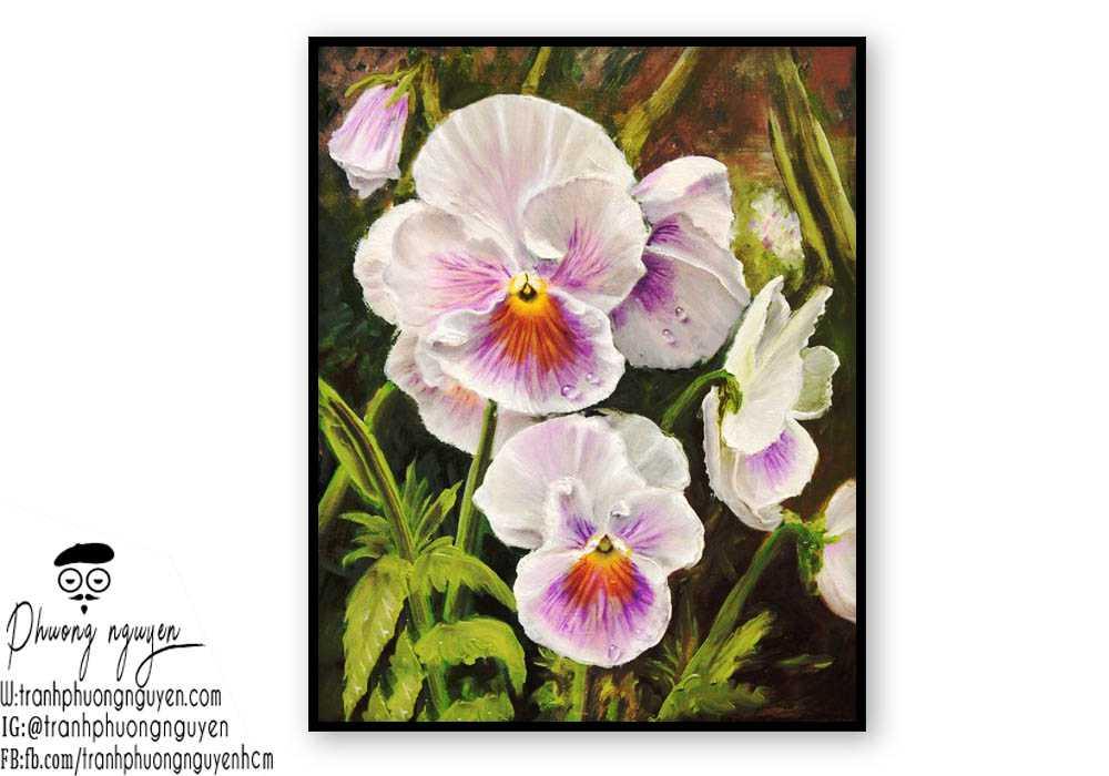 Tranh hoa lan  - PN1431