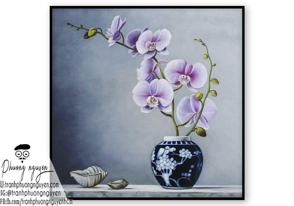 Tranh hoa lan - PN1432