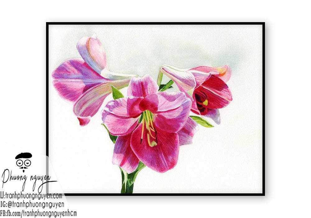 Tranh sơn dầu hoa lan - PN1383