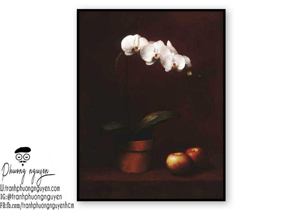 Tranh sơn dầu hoa lan - PN1388