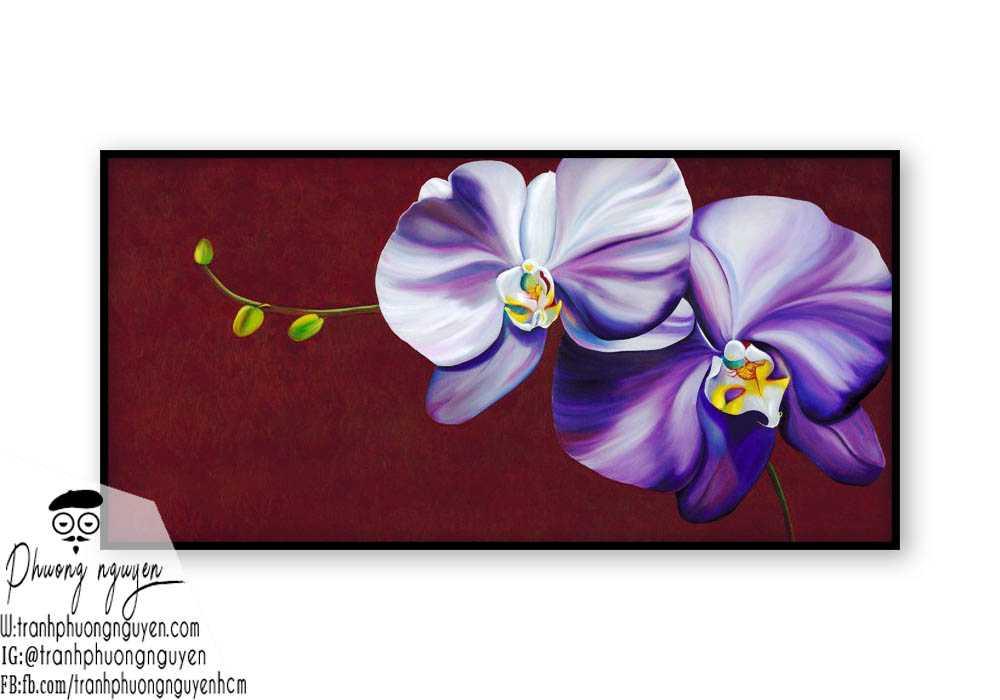 Tranh sơn dầu hoa lan - PN1390
