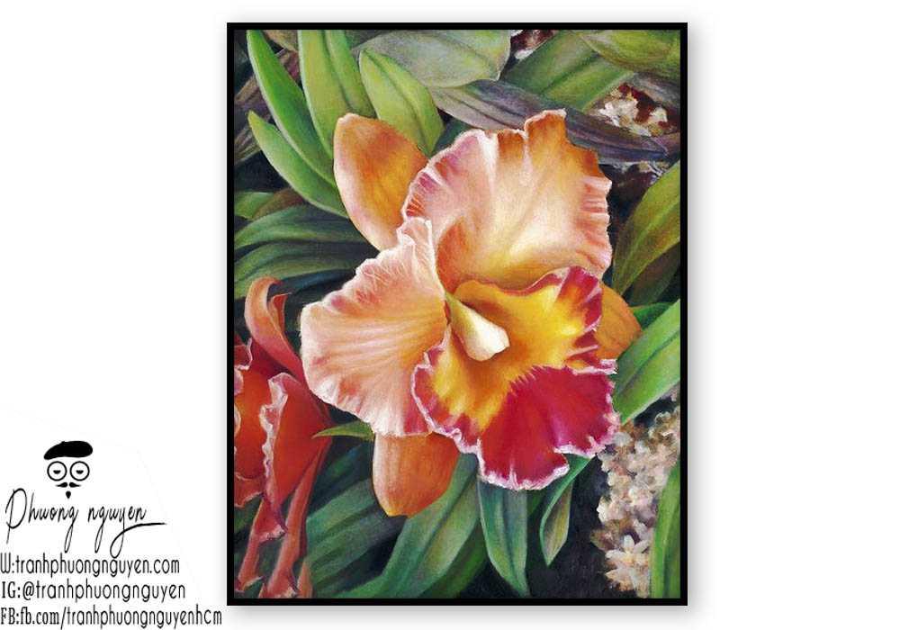 Tranh sơn dầu hoa lan - PN1393