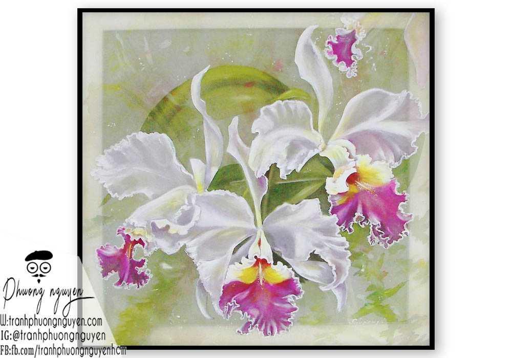 Tranh sơn dầu hoa lan - PN1400