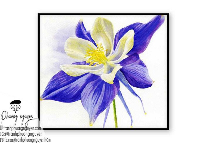 Tranh sơn dầu hoa lan - PN1404