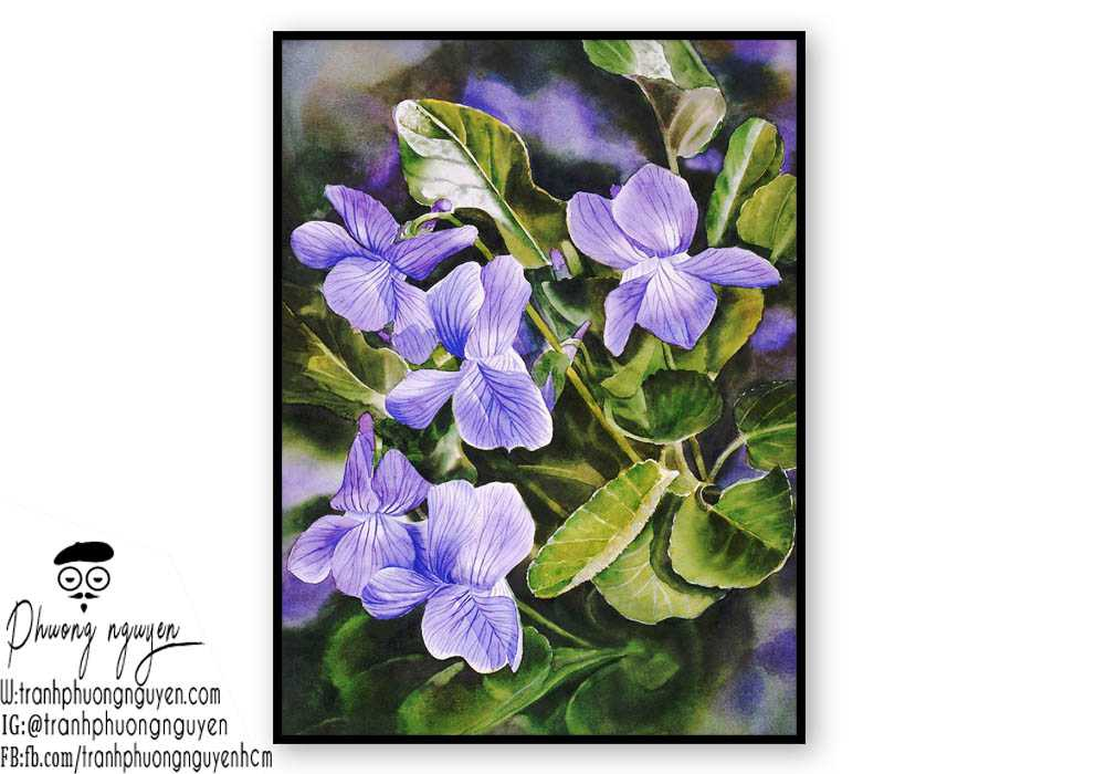 Tranh sơn dầu hoa lan - PN1407