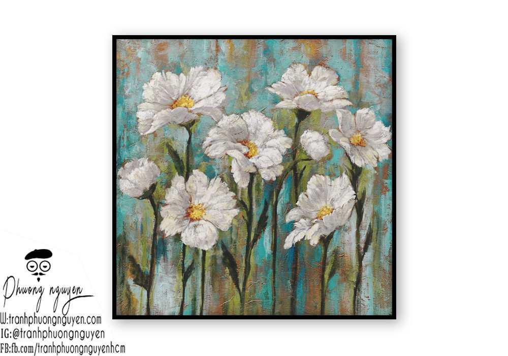 Tranh sơn dầu hoa cúc - PN1435