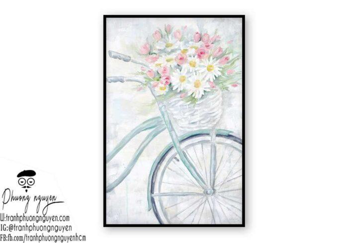 Tranh sơn dầu hoa cúc - PN1436