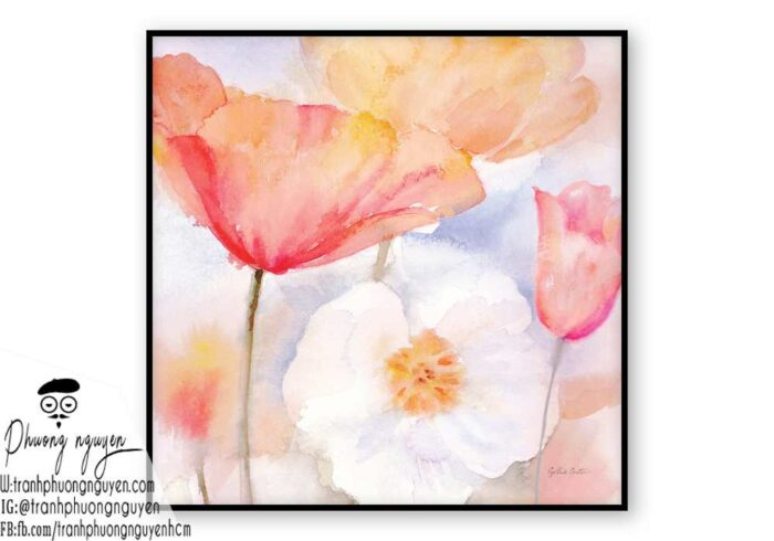 Tranh sơn dầu hoa cúc - PN1439