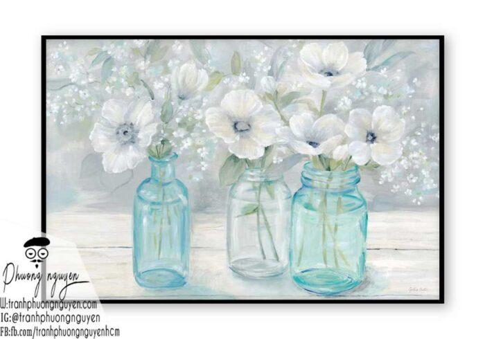Tranh sơn dầu hoa cúc - PN1441