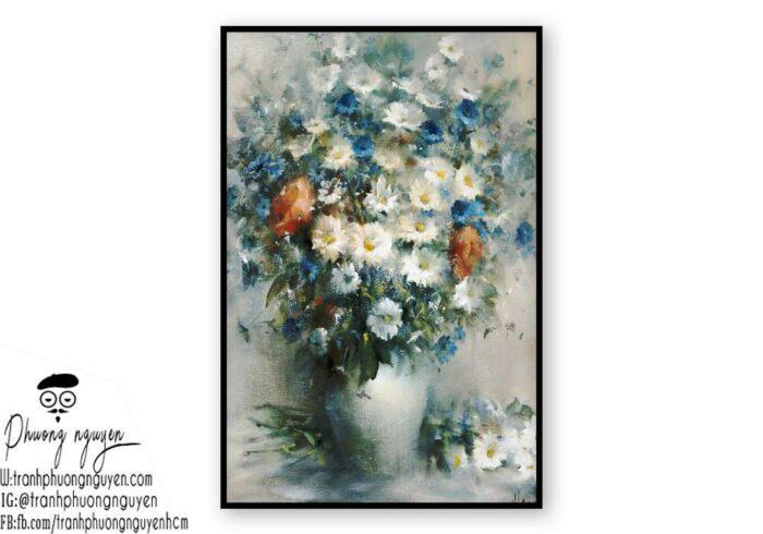 Tranh sơn dầu hoa cúc - PN1443
