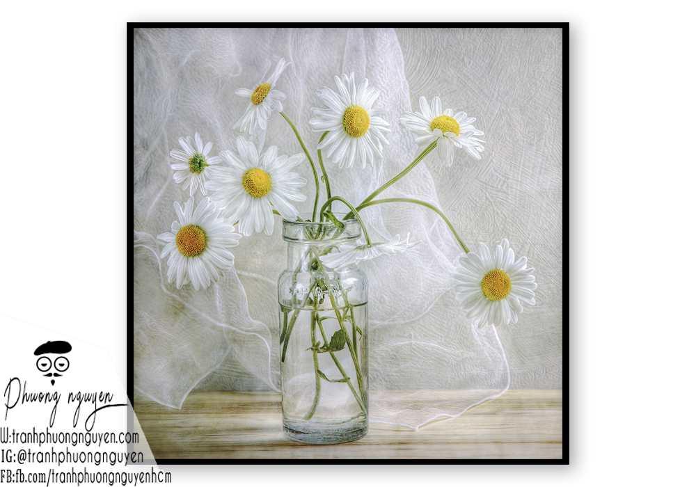 Tranh sơn dầu hoa cúc - PN1445