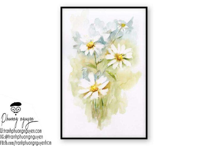 Tranh sơn dầu hoa cúc - PN1446