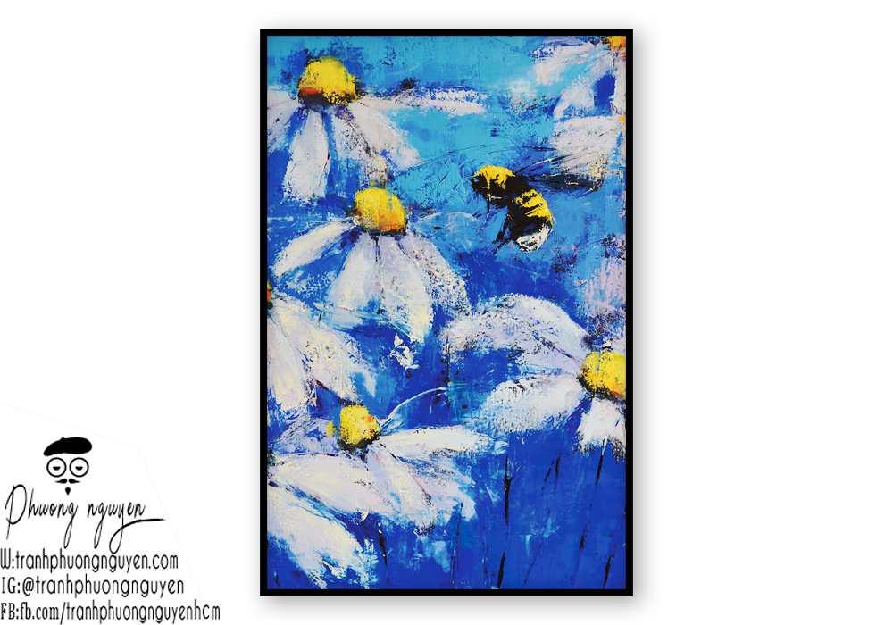 Tranh sơn dầu hoa cúc - PN1447