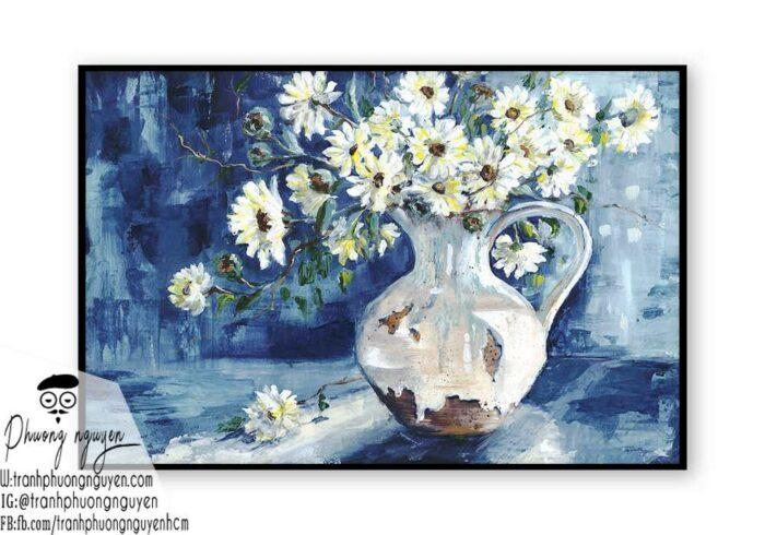 Tranh sơn dầu hoa cúc - PN1448