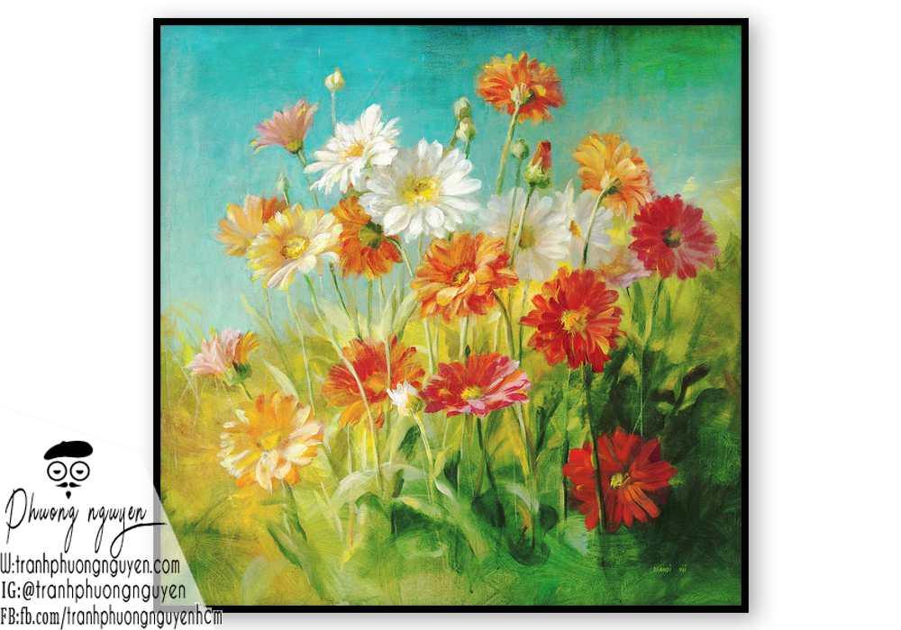 Tranh sơn dầu hoa cúc - PN1449