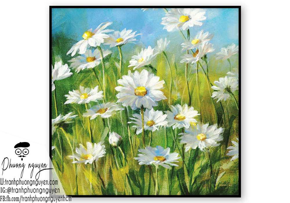 Tranh sơn dầu hoa cúc - PN1450
