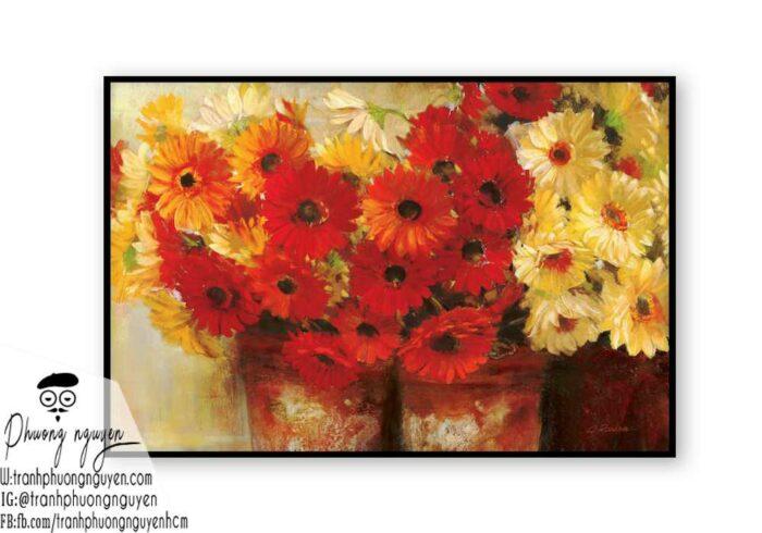 Tranh sơn dầu hoa cúc - PN1451