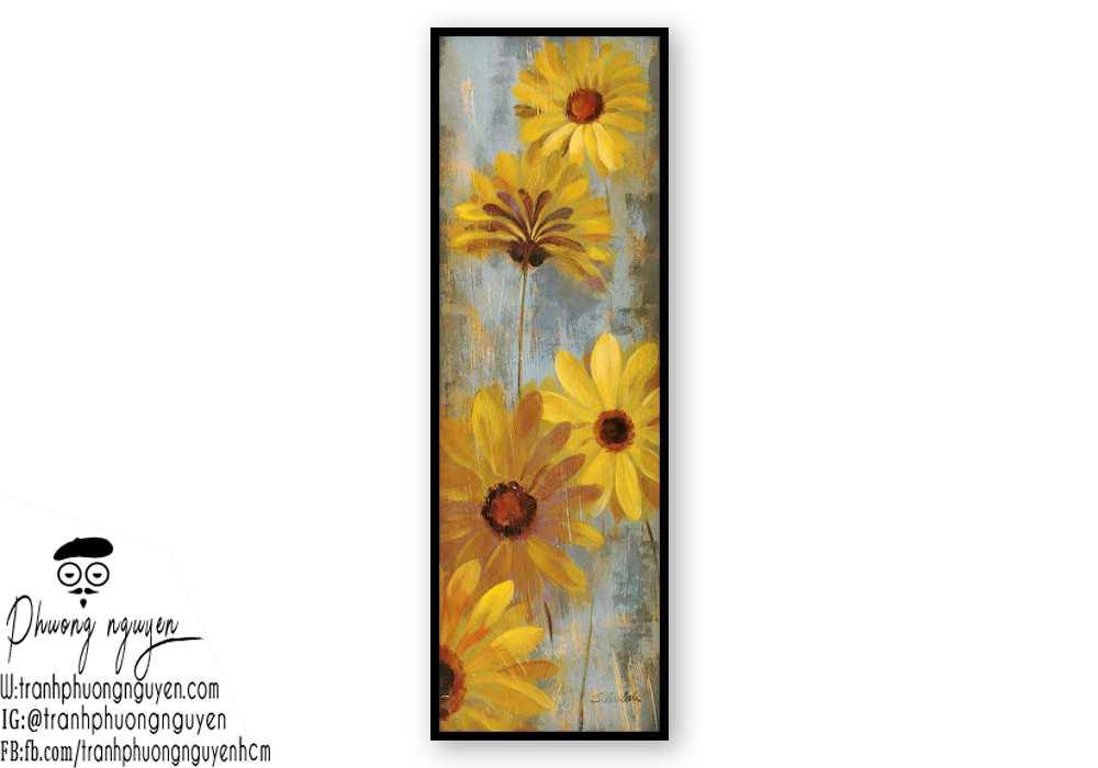 Tranh sơn dầu hoa cúc - PN1452