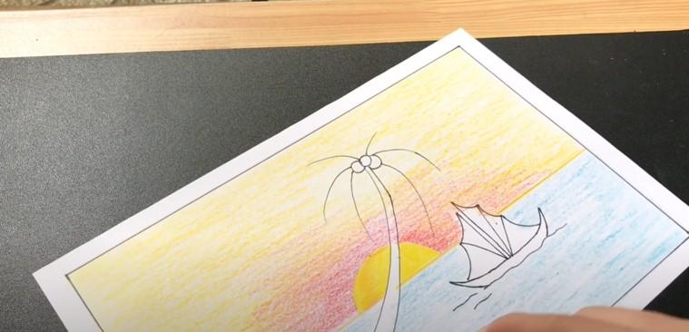 Ve tranh bien dep - tranh phuong nguyen