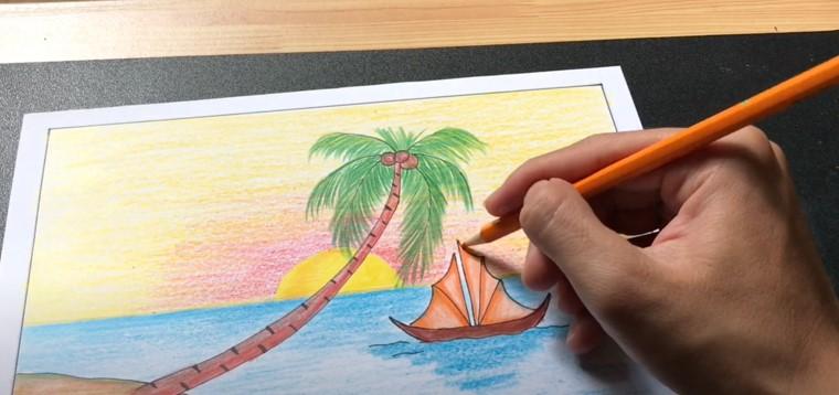 Vẽ tranh biển đẹp