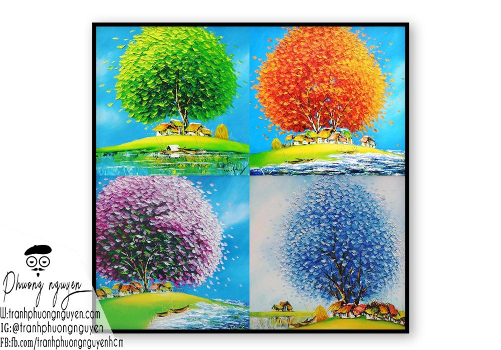 tranh phong cảnh bốn mùa - tranh phương nguyên (3)