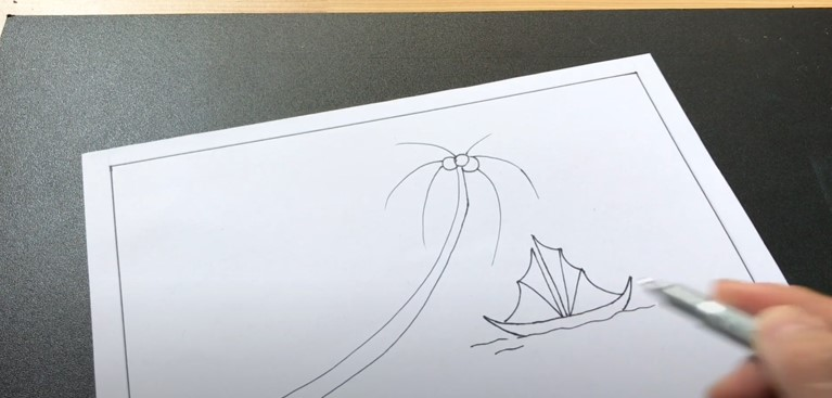 ve tranh phong canh bien (2)